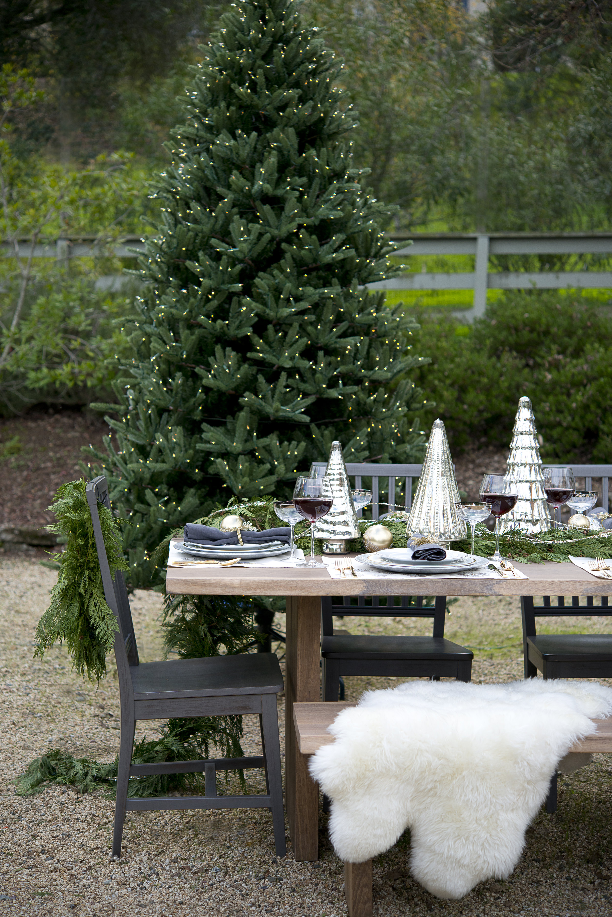 Christmas Table Styling Tablescape