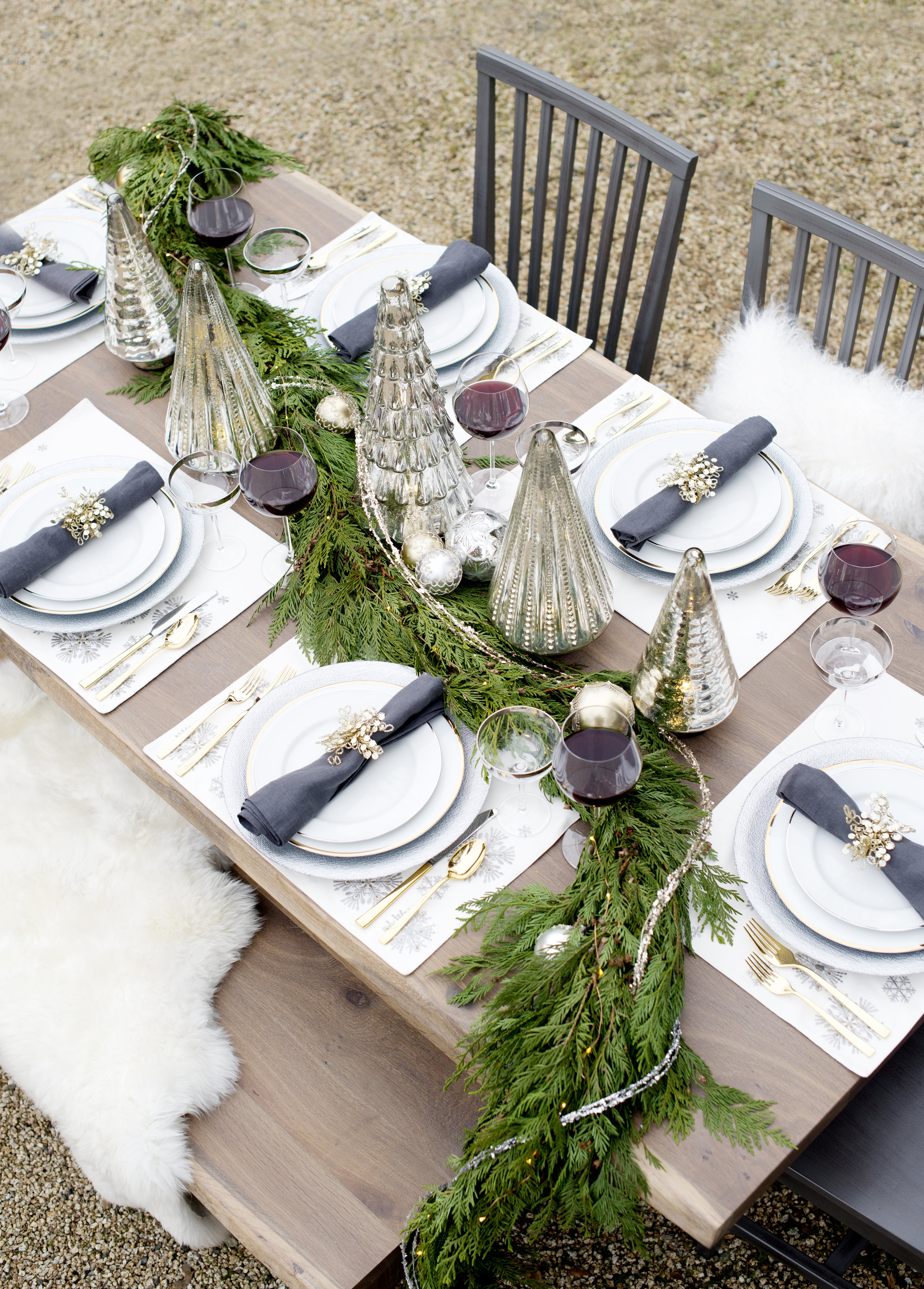 Christmas Table setting Tablescape