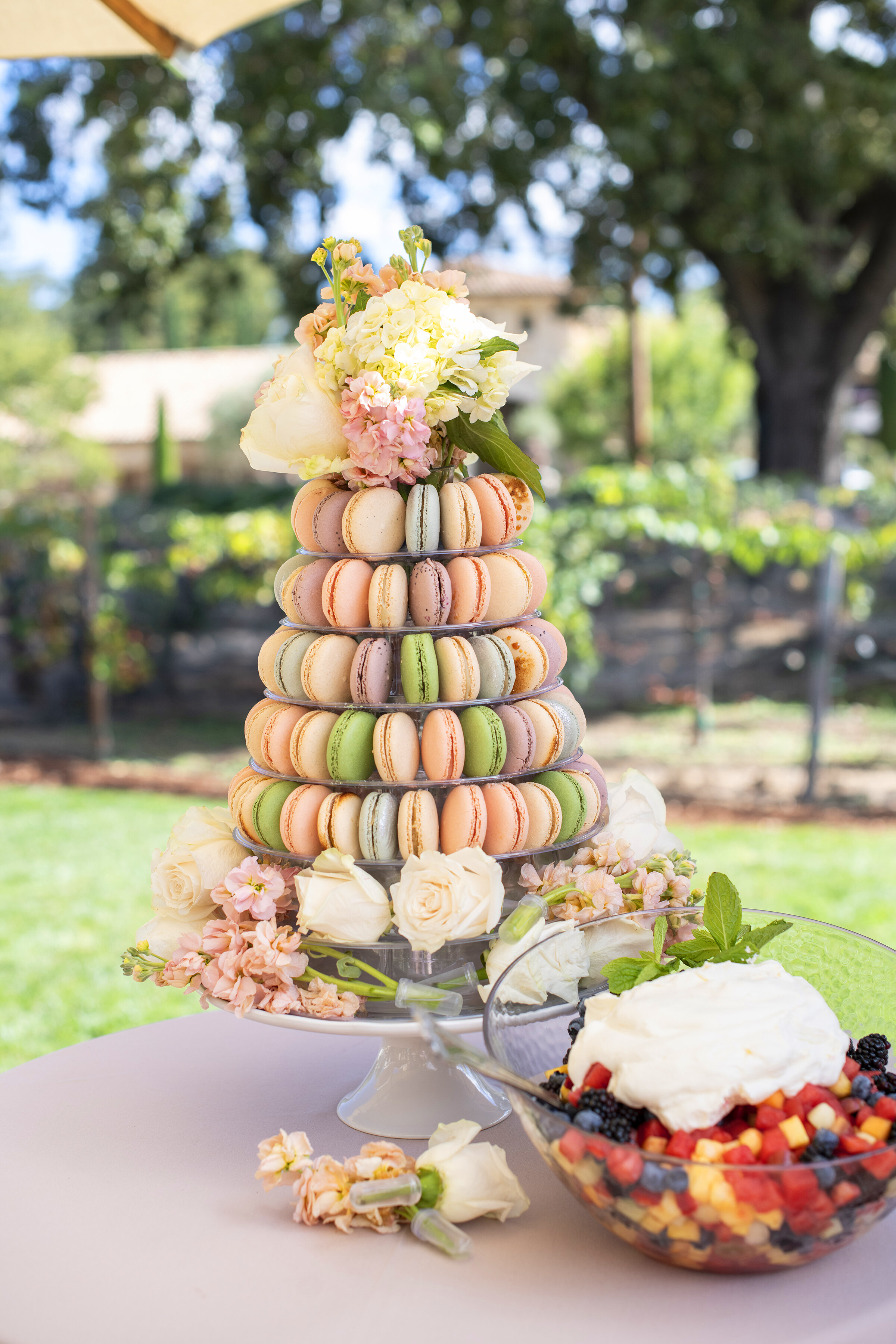Fall Baby Shower: A fall inspired macaroon tower was the dessert attraction