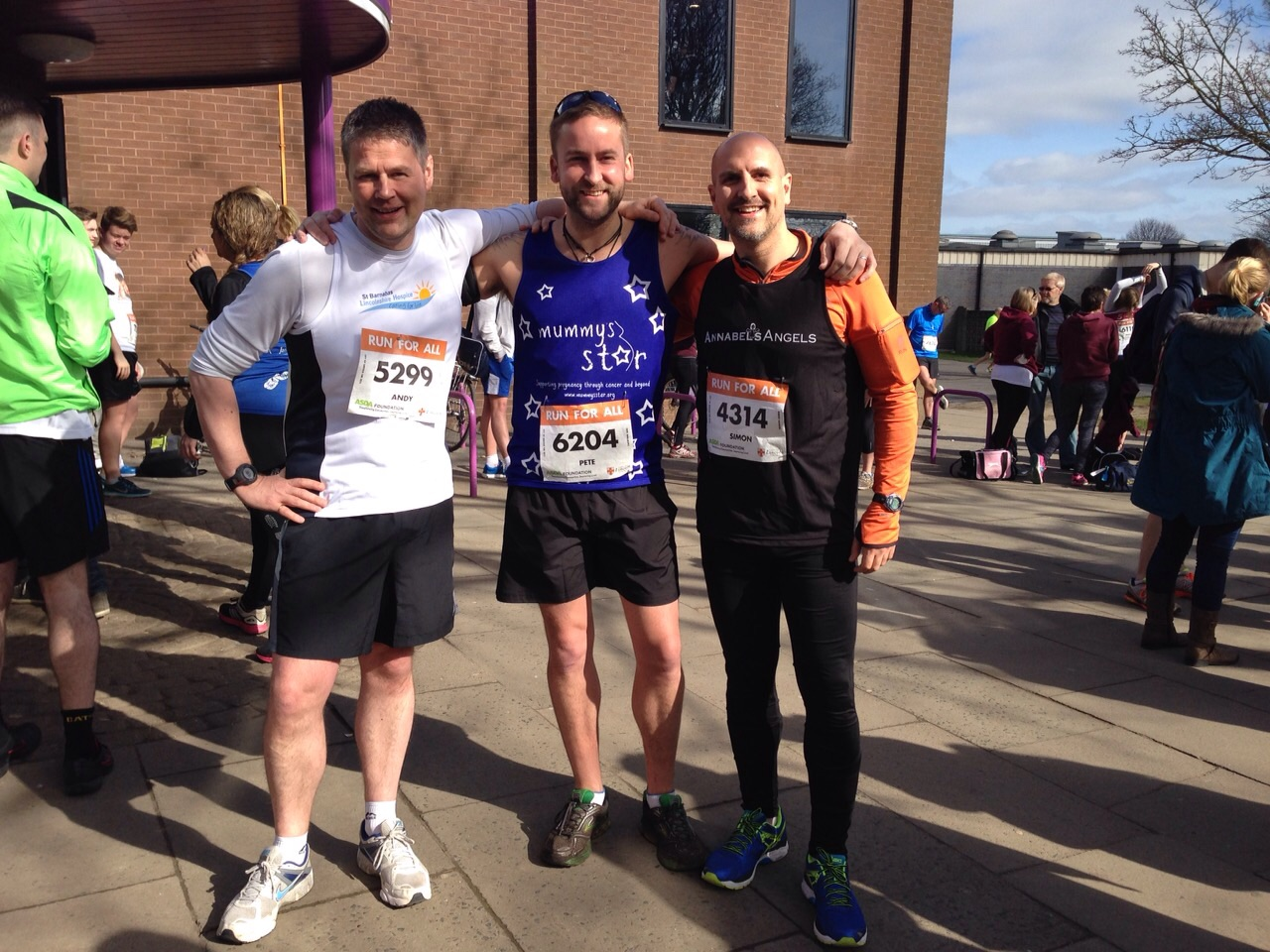 Lincoln 10k 2015 pre race photo Andy King, Pete Wallroth, Simon Hancox.jpg