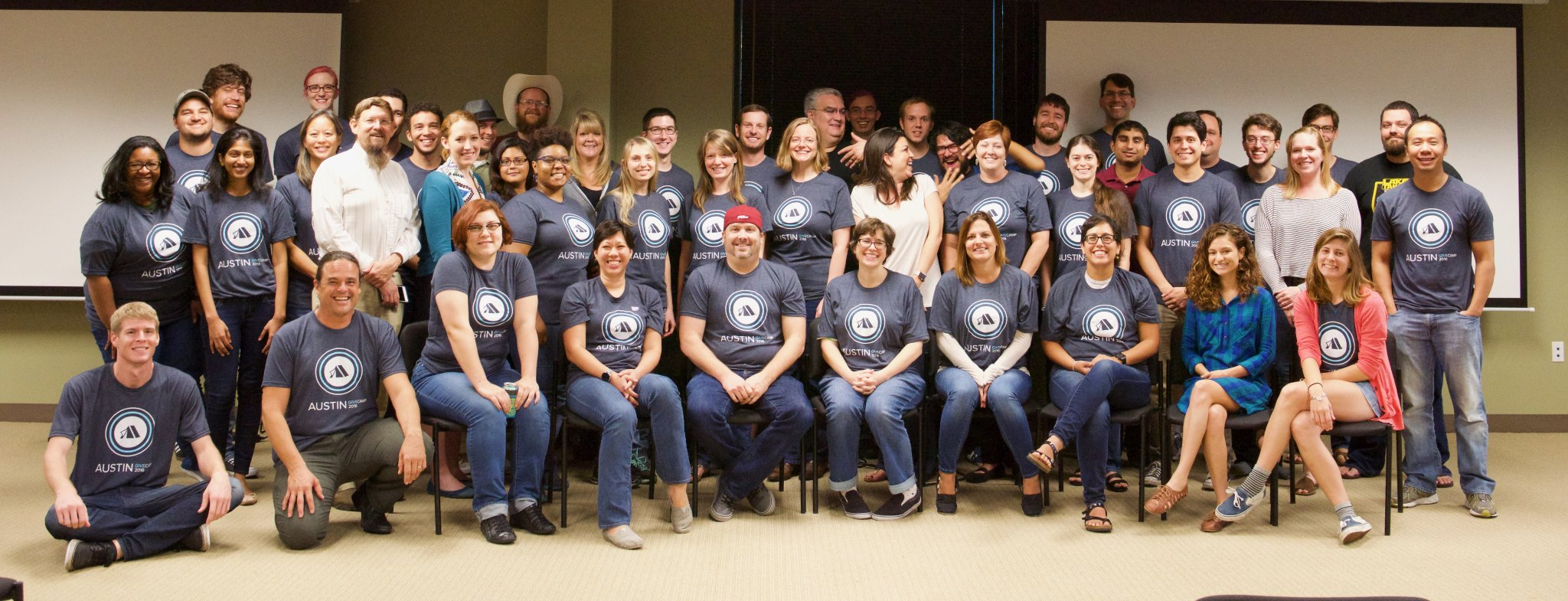 The whole group of volunteers and organizations. What a great group!