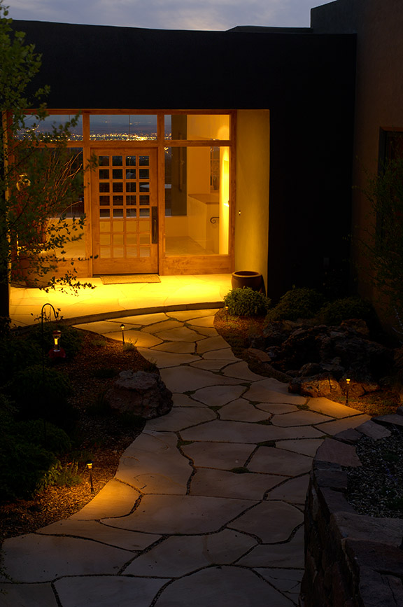 Courtyard Exterior Landscape Lighting Design