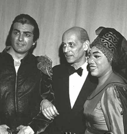 Franco Corelli, Rudolf Bing, Leontyne Price