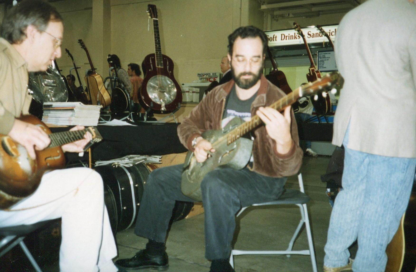 Jamming with Bob Brozman 1990