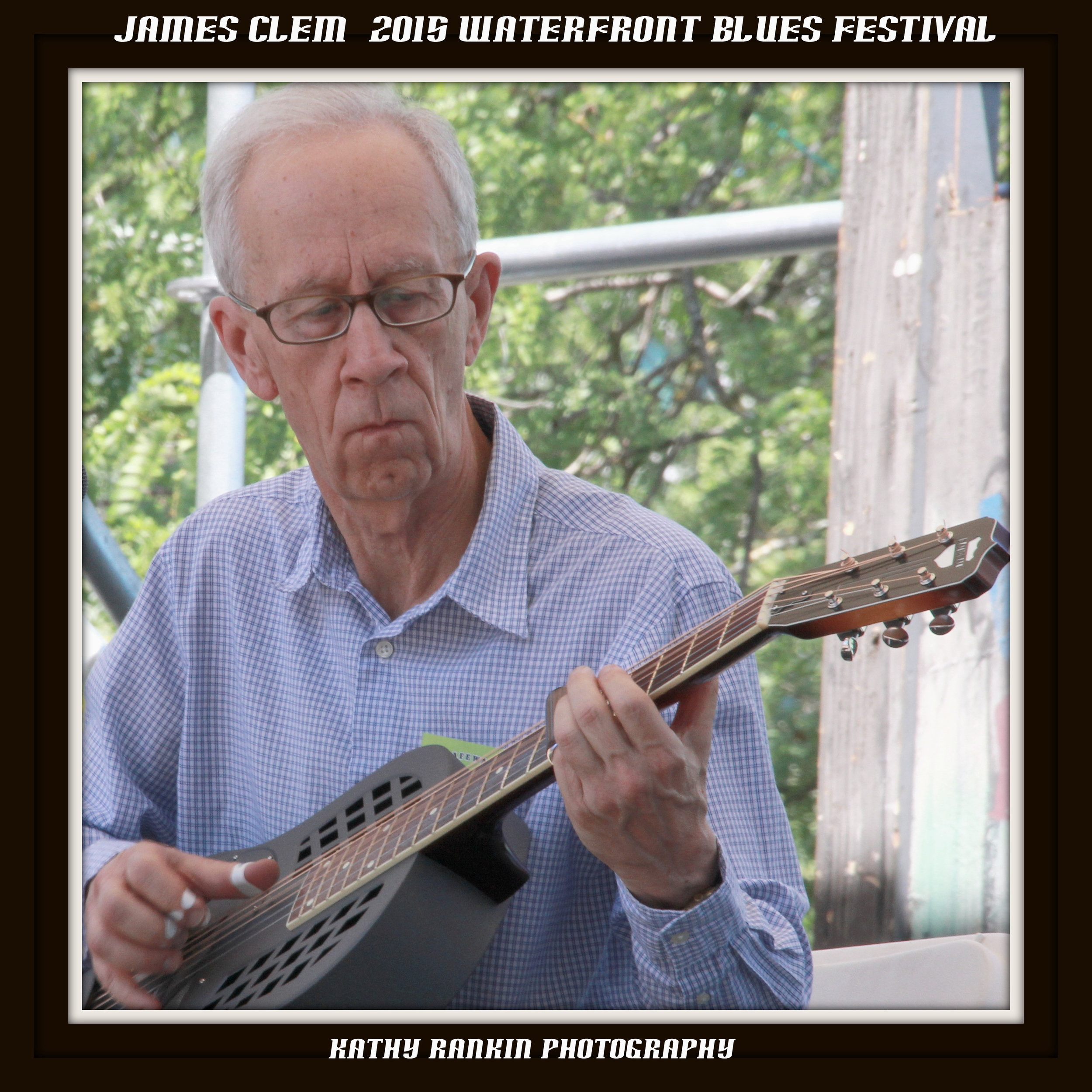 Playing the Waterfront Blues Festival in July, 2015. This is the largest blues festival west of the Mississippi.