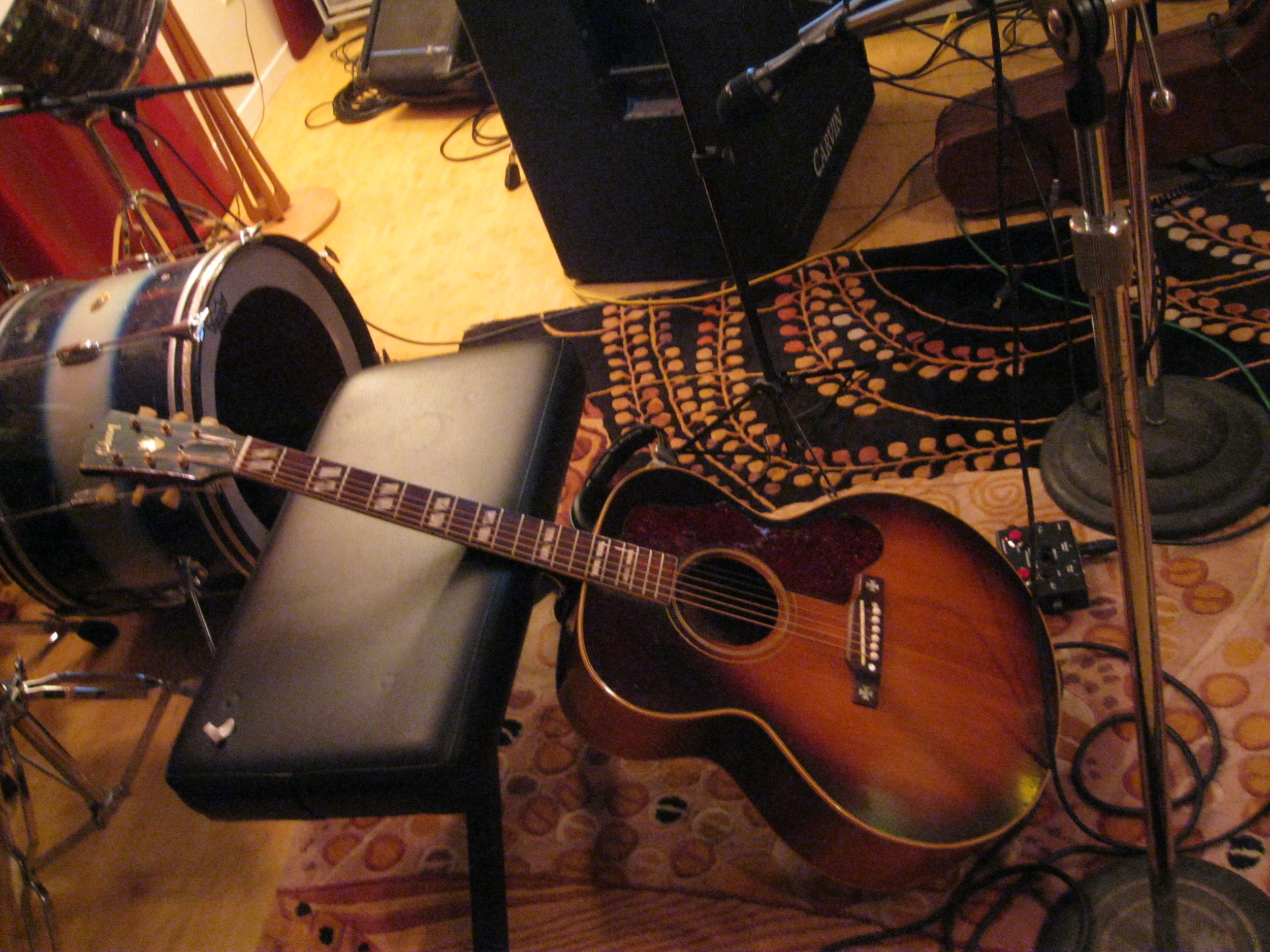 James Clem's 1952 Gibson J-185 guitar.
