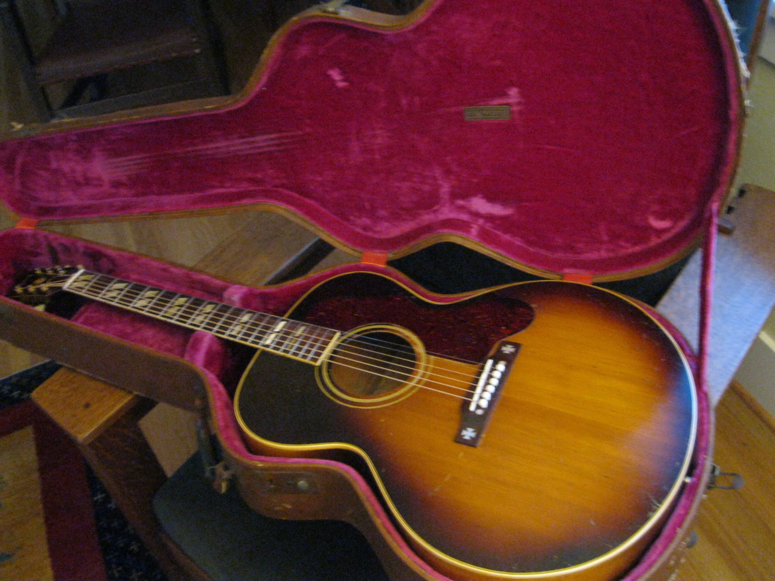 James Clem's 1952 Gibson J-185 guitar with Lifton case .