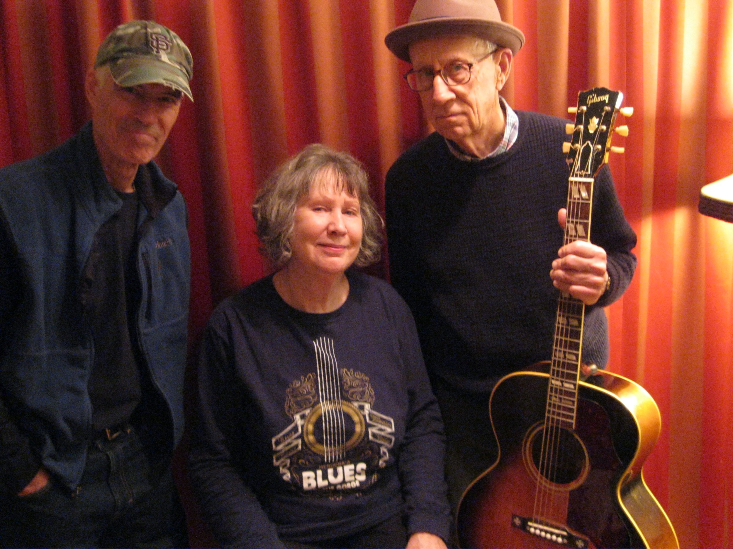 In the   studio with Mary Flower and Craig Snazelle.