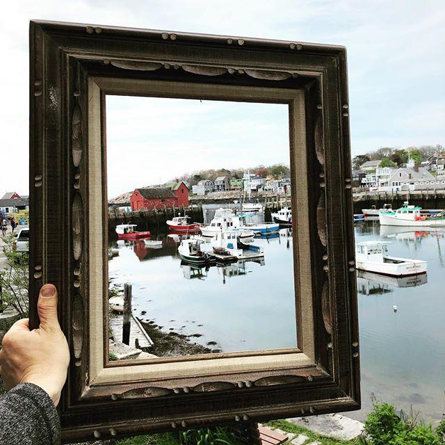 Half building. Half legend. 100% #Motif 🌊 . . #rockport #harbor #motif1 #capeann #coastal #seaside #harbor #bearskinneck #motif1day #m1d #newengland #historic #ocean #frame #art #painterwithoutborders #conquercancer #hopegrowshere #staycolorful