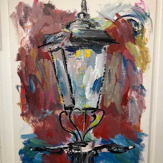 One lamp can't light up an entire city...but one light can make sure the city is never dark ✨ . . #artoftheday #artistinresidence #mghcancercenter #boston #art #painting #giveback #hopegrowshere #hope #healing #conquercancer #artheals #colorful #staycolorful #painterwithoutborders #light #lamp #rockport #capeann #newengland #beaconhill