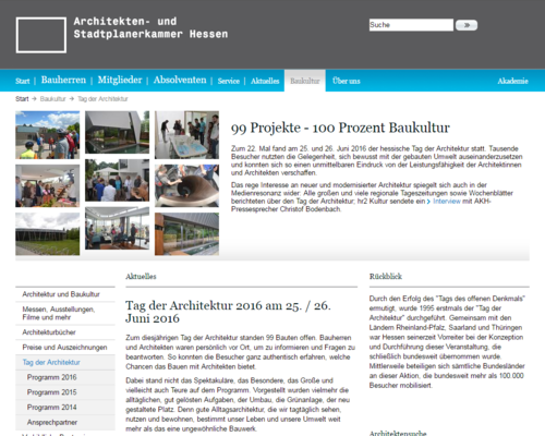 Architektenkammer Hessen - Tag der Architektur