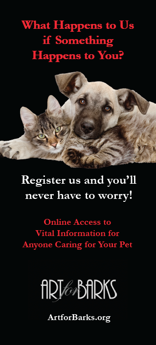 Click on the photo to download a free wallet card with all the information needed to make sure your pet is in good hands!