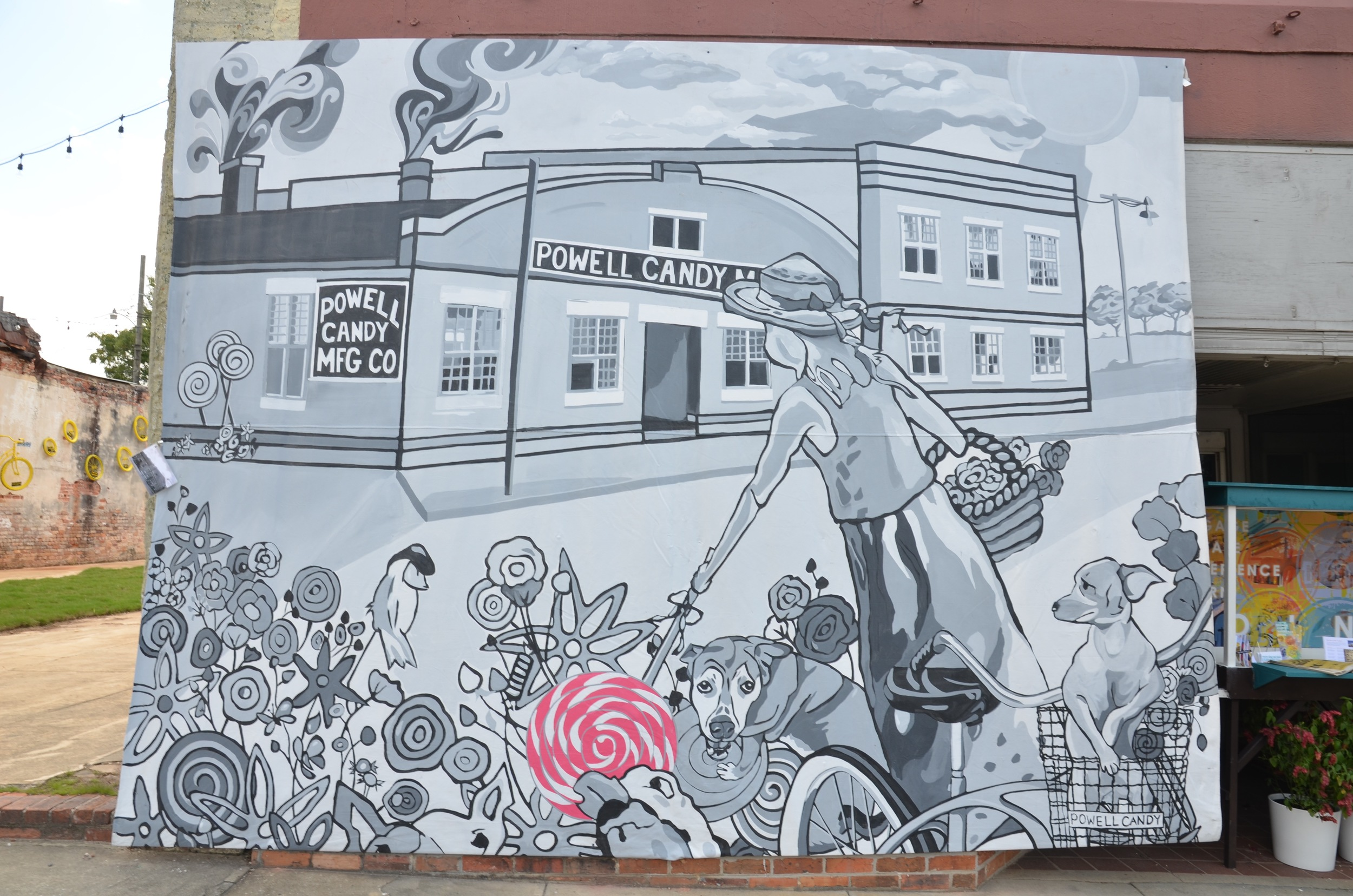 """Thomasville Center for the Arts FLAUNT 2014 - Historically inspired murals """"popped up"""" all over downtown Thomasville as part of the 2014 FLAUNT celebration of public art."""