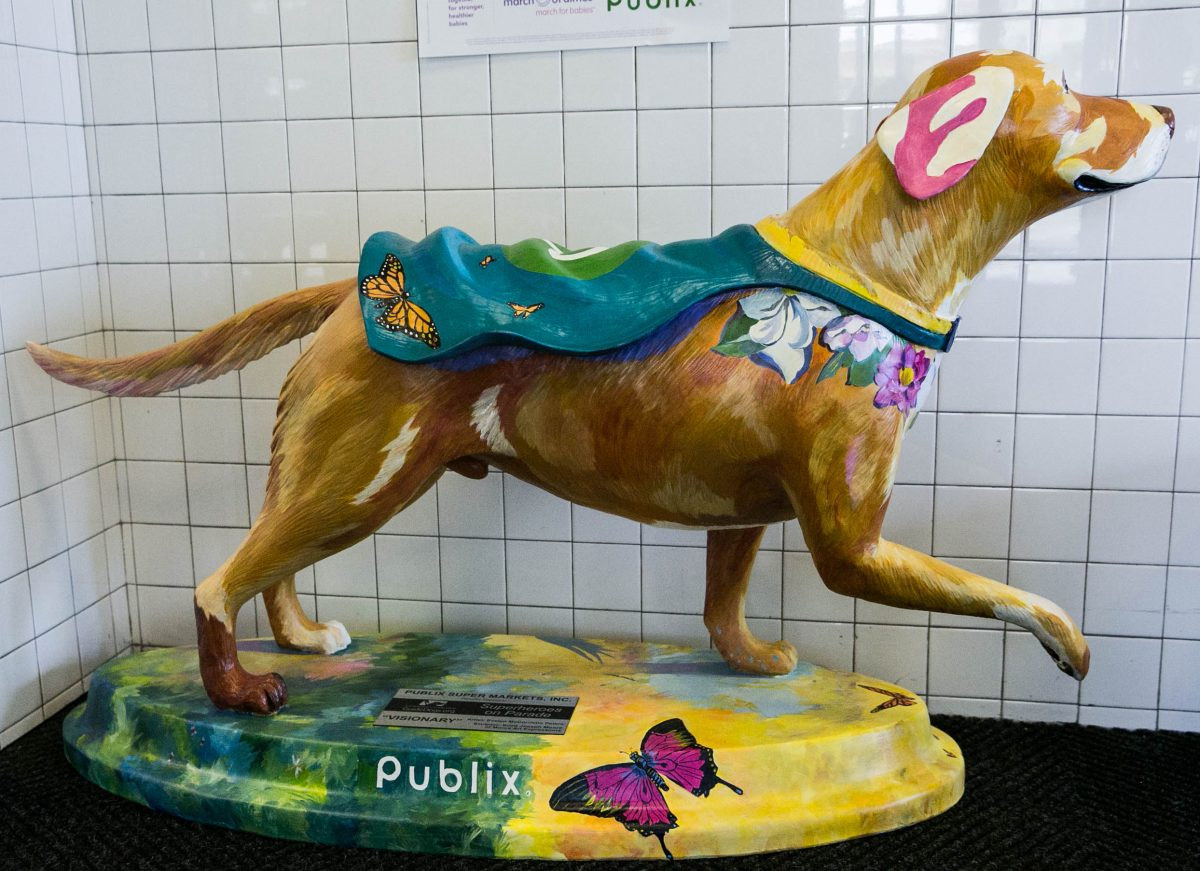"""Superhero """"Visionary"""" by Evelyn McCorristin Peters, sponsor Publix"""