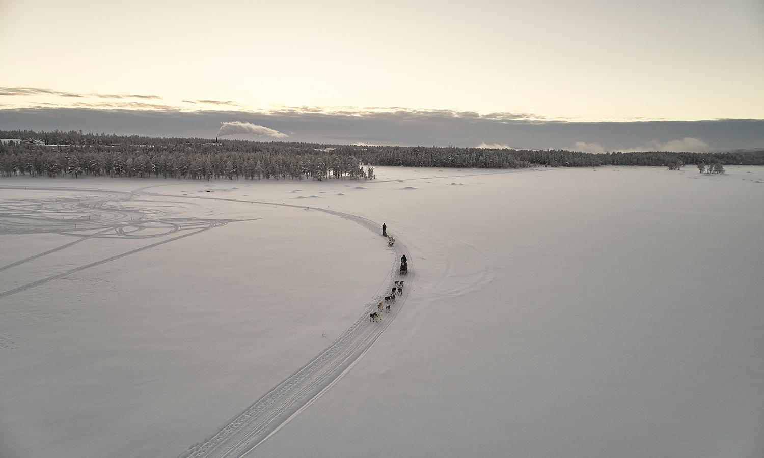 Drone shoot for Landrover in Arjeplog, Sweden