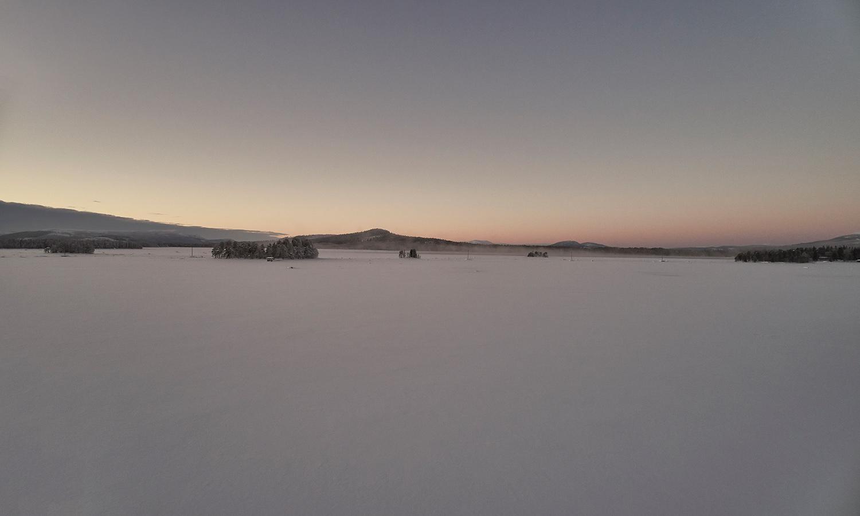 Drone shoot for Landrover in Arjeplog, Sweden