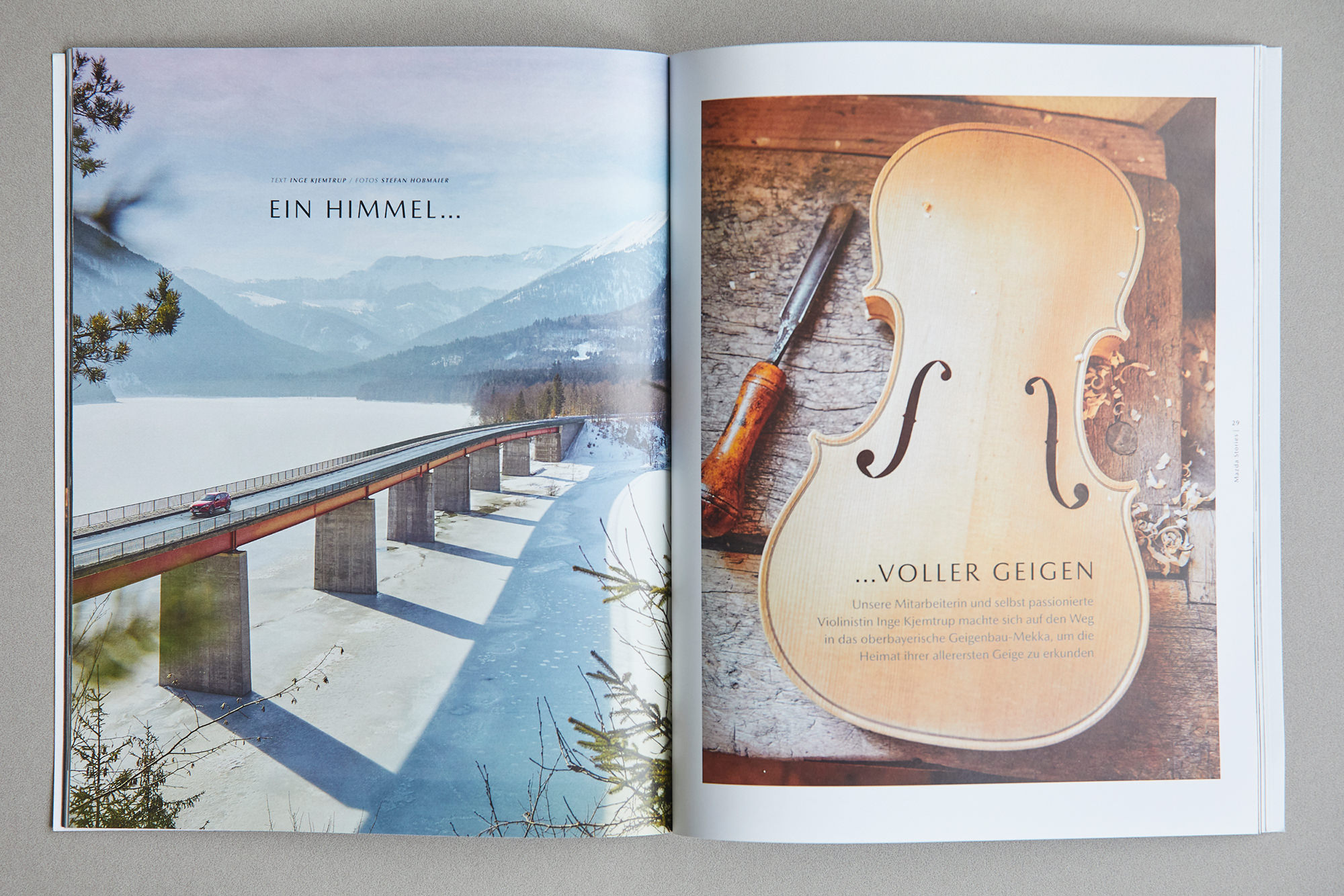 Violin makers in Austria and Germany for Mazda