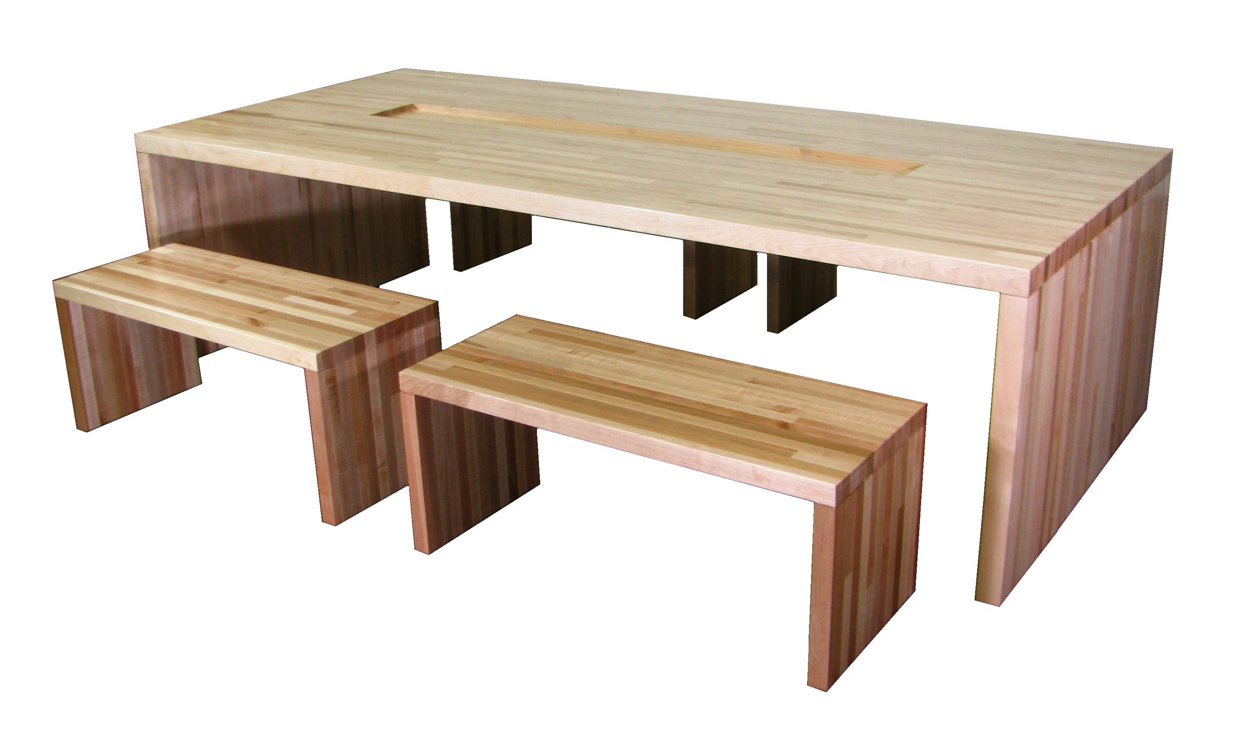 Waterfall Table & Benches