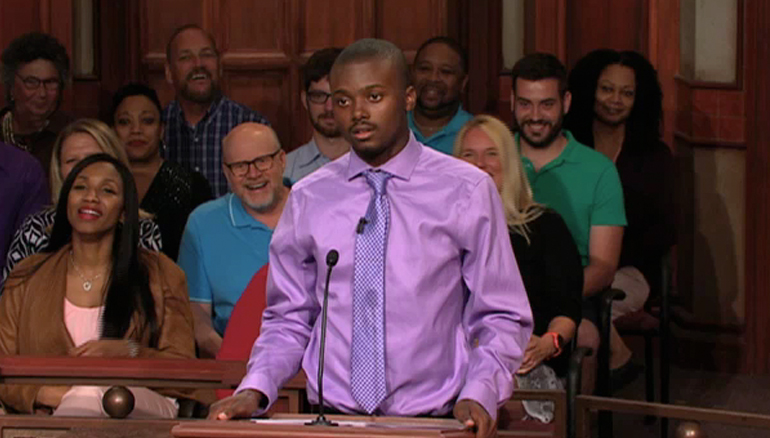 """TUNE IN TO ALL-NEW CASES- IT'S SEASON 20 OF JUDGE MATHIS! On Thursday, a woman sues her former roommate, claiming he had a lot of """"traffic"""" in his room! What does he say? Don't miss a minute!"""
