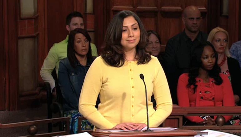 Watch Wednesday when a woman sues her friend's brother, claiming the defendant has always had a huge crush on her. What does the defendant say? Don't miss a minute!