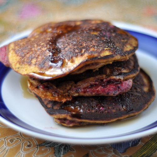 Beet and Almond Pancakes (gluten-free)