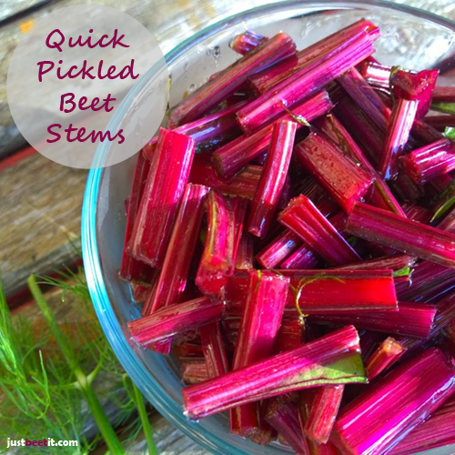 Quick-Pickled Beet Stems Recipe