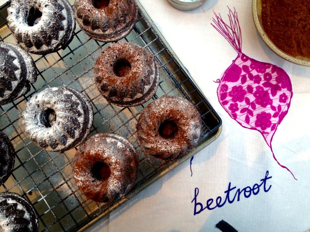 Tasty Tuesdays Mini Beetroot Bundt Cake
