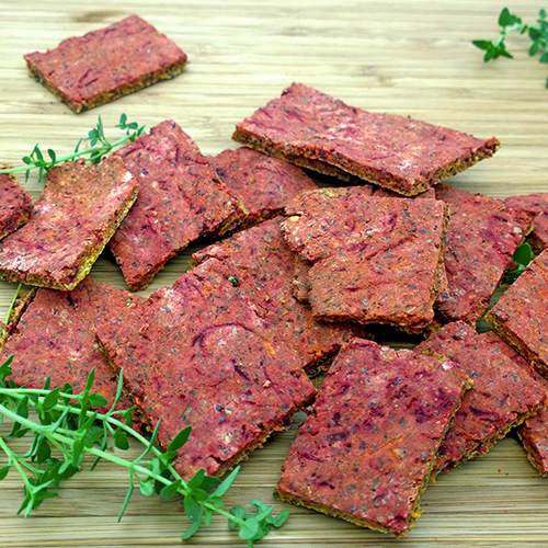Beet and Carrot with Herbs Gluten-Free Crackers