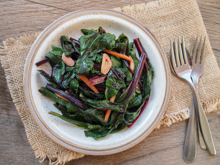 Beet Greens and Ginger Stir-Fry  by  Vermilion Roots