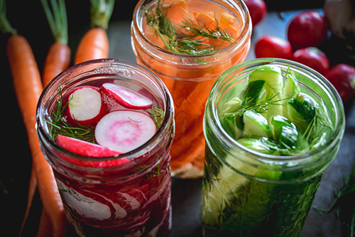 Simple Fermented Vegetables  by  Calm Eats