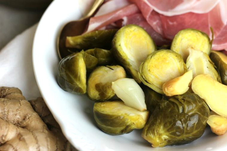 Fermented Brussels Sprouts  by  Eat Beautiful