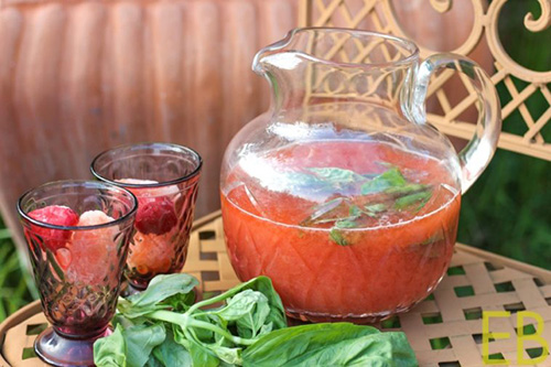 Strawberry-Basil Switchel  by  Eat Beautiful