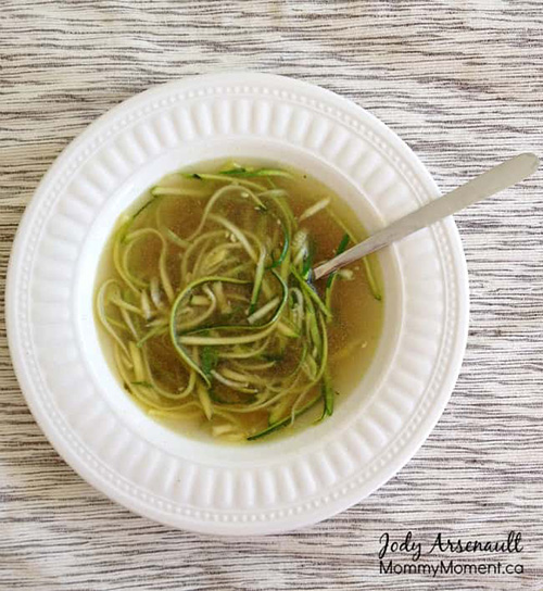Chicken Zoodle Soup  by  Mommy Moment