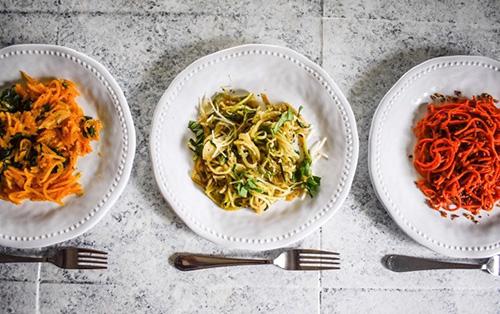 Veggie Noodles 3 Ways  by  Dash of Jazz
