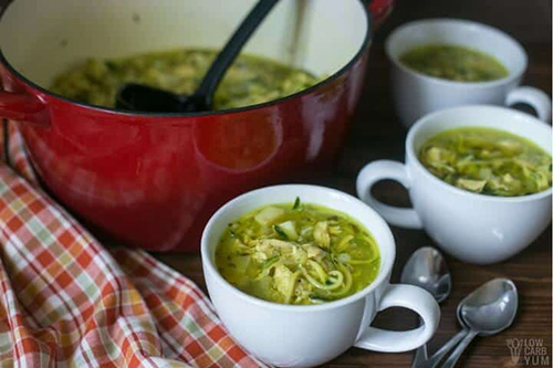 Low Carb Chicken Noodle Soup  by  Low Carb Yum
