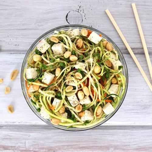 Thai Peanut Zucchini Noodle Salad  by  Veg Annie