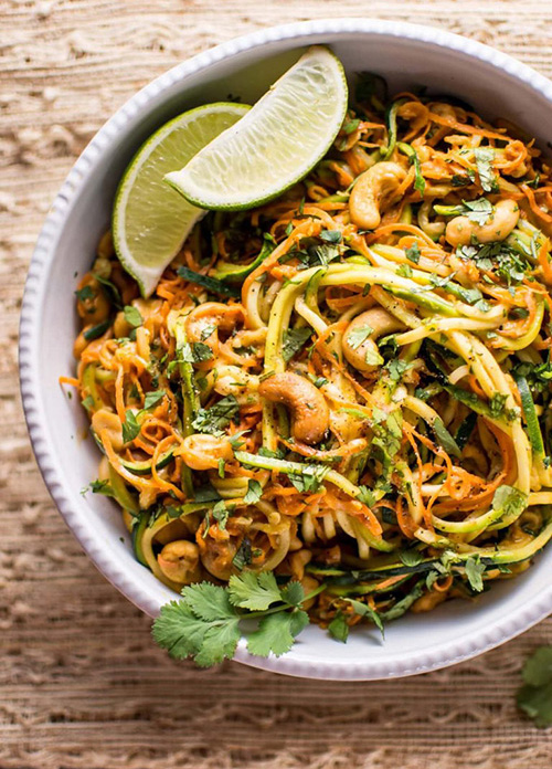15 Minute Garlic Lime Cashew Zoodles  by  Salt and Lavender