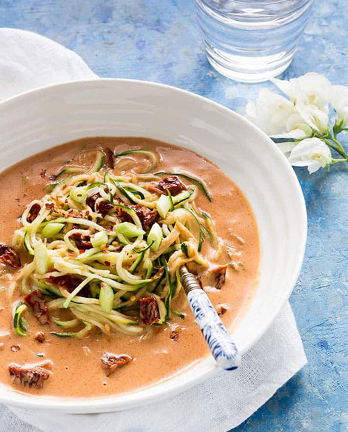 Courgetti with Coconut Milk and Sun-dried Tomatoes  by  Recipes From a Pantry