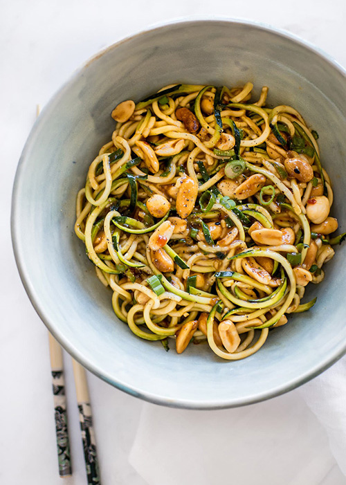 15 Minute Kung Pao Zoodles  by  Salt and Lavender