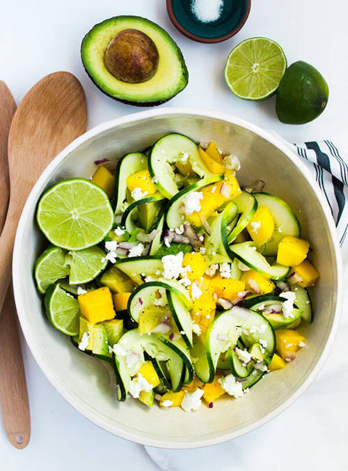 Spiralized Cucumber Summer Salad  by  Pass Me Some Tasty