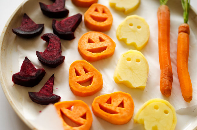 Halloween Roasted Veggies  by  Live Eat Learn