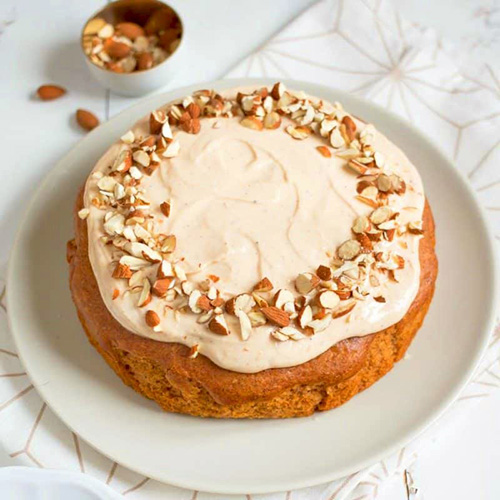 Butternut Squash Cake & Cream  by  Nellie Bellie