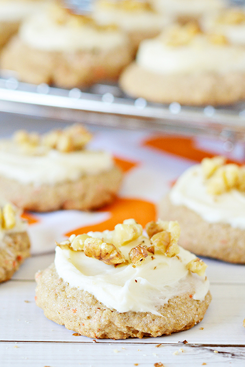 Carrot Cake Mix Cookies Recipe with Cream Cheese Frosting  by  Home Cooking Memories