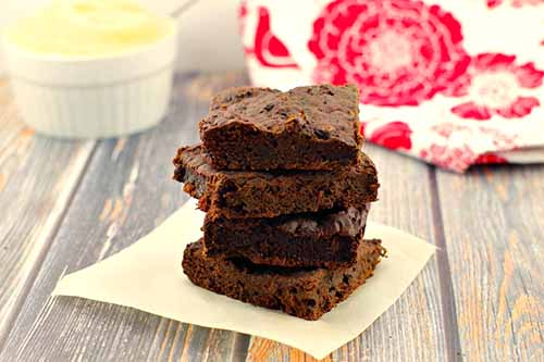 Healthy Applesauce and Spinach Brownies  by  Food Meanderings