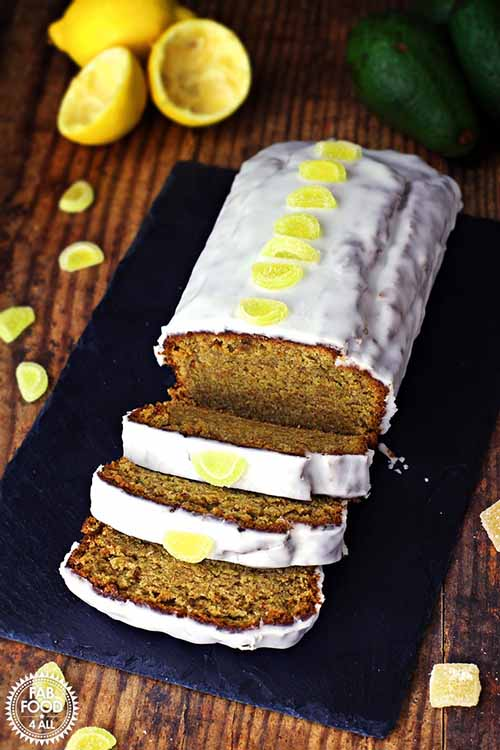 Easy Ginger Avocado Cake with Lemon Drizzle  by  Fab Food 4 All