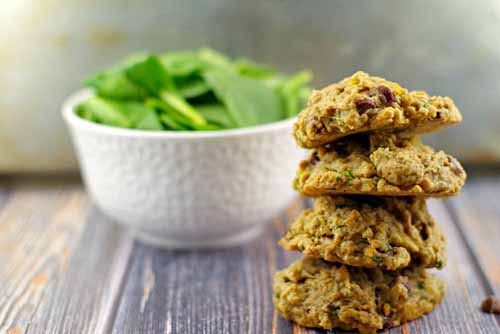 Healthy Chocolate Chip Cookies (with Spinach)  by  Food Meanderings