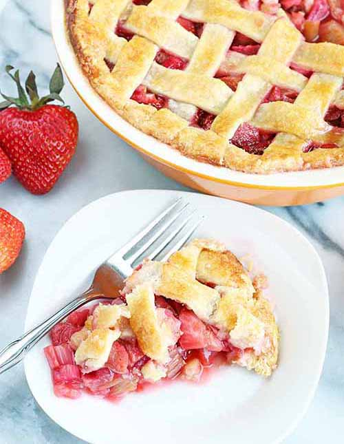 The Best Classic Strawberry Rhubarb Pie  by  Foodal