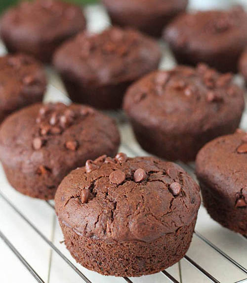 Easy Gluten-Free Chocolate Zucchini Muffins (Vegan)  by  Delightful Adventures