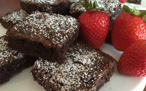 Strawberry Zucchini Brownies  by  Money Savvy Living