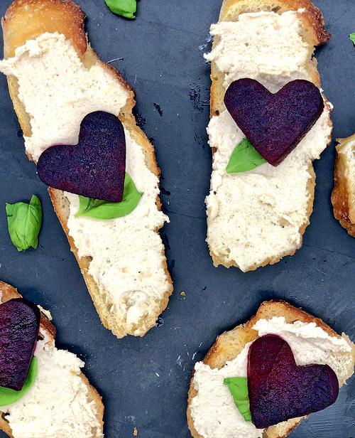 vegan crostini with roasted beets and cashew cream pinterest.jpg